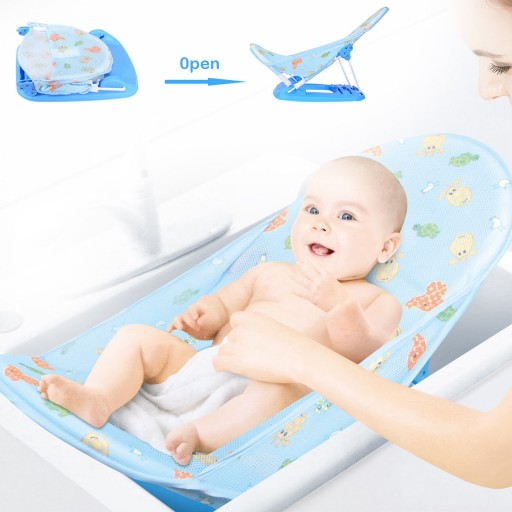 Baby Infant Toddlers Bath Tub Seat Child Shower Stand Newborn Bath Support Bed