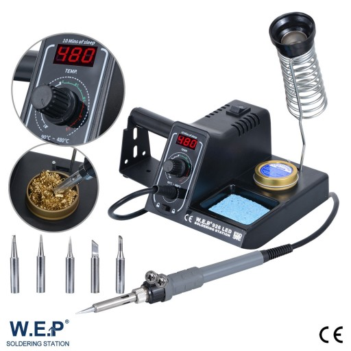 WEP 60W Soldering Iron Solder Rework Station Variable Temperature LED Display