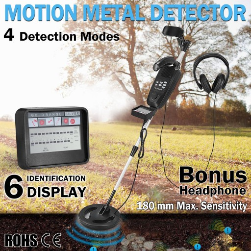 Voilamart Searching Metal Detector Deep Sensitive Gold Digger Treasure Hunter LCD Readout with Headphone