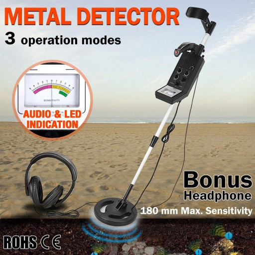 Voilamart Searching Metal Detector Deep Target Sensitive Coin Treasure Gold Hunter with Headphone