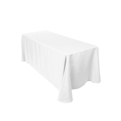 Voilamart 2pcs Tablecloths 152 x 259cm Wedding Banquet Party Event Rectangle White