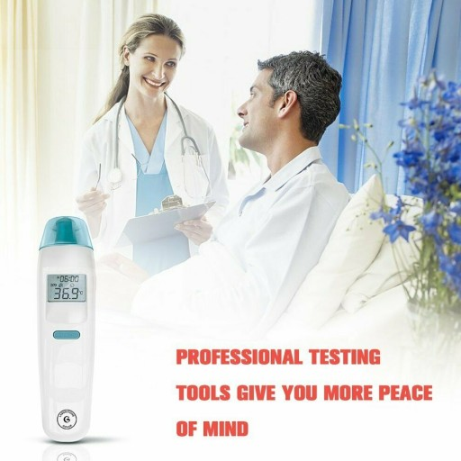 LCD Digital Non-Contact Infrared Forehead Thermometer Gun Medical Body Wireless