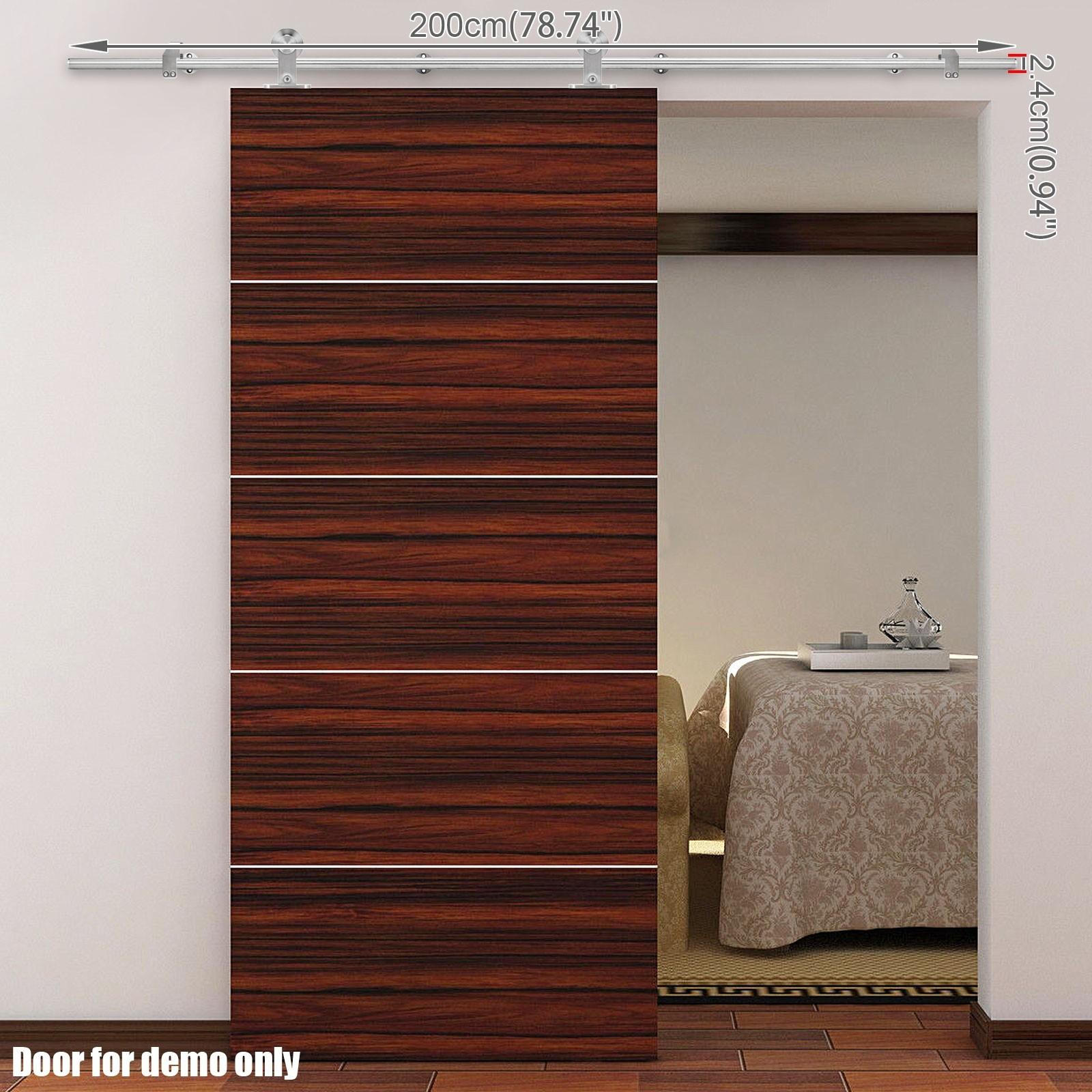 20 Home Offices With Sliding Barn Doors: Voilamart Sliding Barn Door Track Hardware Set 2m High