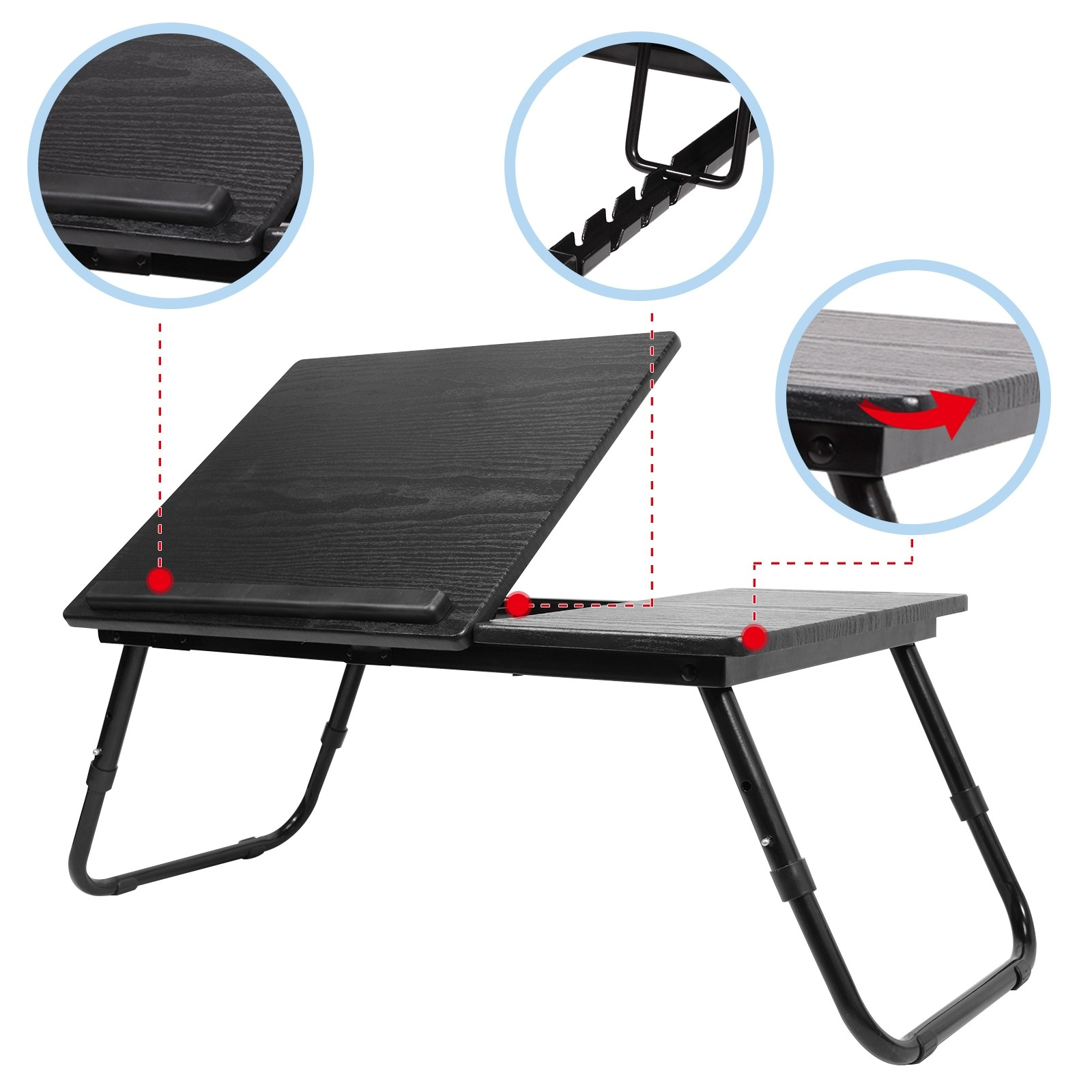Laptop Stand Desk Lap Bed Table Tray Sofa Computer ...