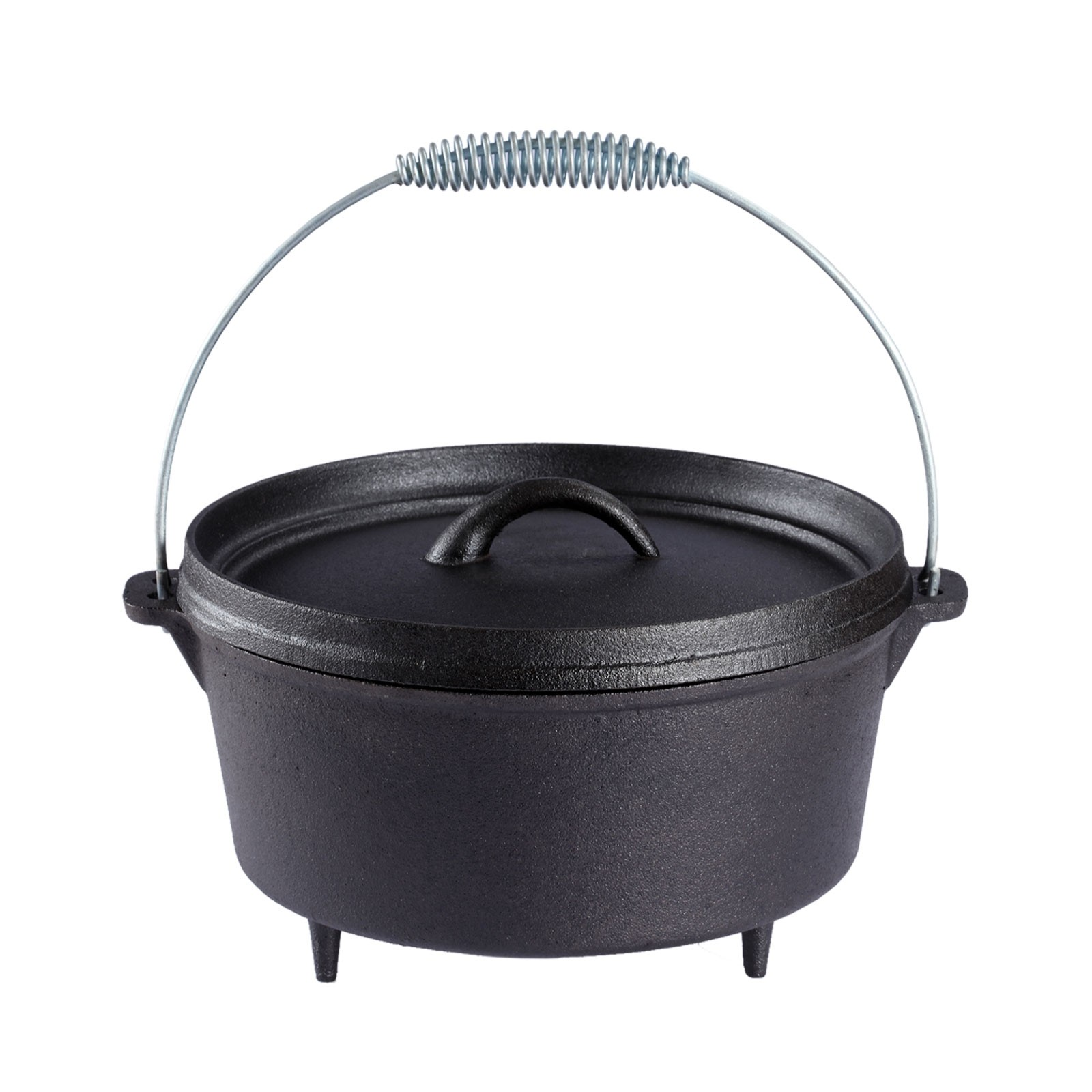Dutch Oven 4.5 QUART Cast Iron Camp Pot Outdoor Camping