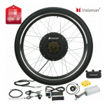 "Voilamart 26"" 48V 1500W Rear Wheel Electric Bicycle Bike Motor Conversion Kit Hub Cycling"