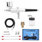 Voilamart Dual Action Air Brush 0.2/0.3/0.5mm Airbrush Hose Spray Gun Paint Tattoo Kit