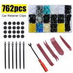 762PCS Car Trim Body Clips Kit Rivet Retainer Door Screw Panel Bumper Fastener