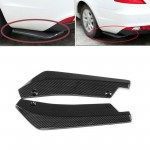 2Pcs Black Car Rear Bumper Diffuser Splitter Canard Protector Universal New