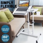 Mobile Laptop Desk Stand Adjustable Height Notebook Computer iPad Bedside Table
