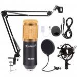 USB Condenser Microphone Kit Studio Audio Broadcast Sound Recording Tripod Stand