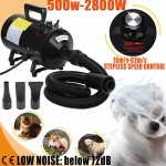 2800W Pet Motorcycle Grooming Hair Dryer Stepless Speed Blower Heater Blaster