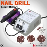 Voilamart Electric Manicure Toe 6 Bits Nail Drill Machine Acrylic Salon Tool Set