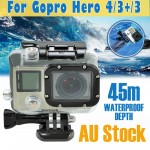 Voilamart Waterproof Case Diving Protective Housing Clear For GoPro Hero 3 3+ 4 Go Pro