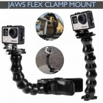 Voilamart Jaws Flex Clamp Mount Clip Accessories Adjustable Neck Gopro Hero 5 4 3+ Go Pro