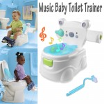 Music Kids Baby Toilet Training Children Toddler Potty Trainer Seat Chair 2 in 1