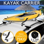 Voilamart Kayak Roof Rack Loader Carrier Canoe Watercraft Arm Mount Saddle Loader Holder V Shape