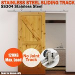 Voilamart Sliding Barn Door Track Hardware Set 2m High Grade Stainless Steel for Home Office Bedroom