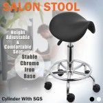 Saddle Salon Bar Stool Barber Chair Massage Hairdressing Equipment Hydraulic SGS