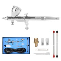 Dual Action Air Brush 3 Nozzles 3 Needle 9CC Cup Airbrush Spray Gun Gravity Feed