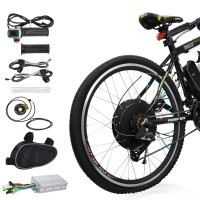 "Voilamart Electric Bicycle Kit 26"" Rear Wheel 48V 1000W E-bike Conversion Kit, Cycling Hub Motor with Intelligent Controller and PAS System for Road Bike"
