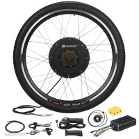 "Voilamart 26"" Rear Wheel Electric Bicycle Conversion Kit, 48V 1500W E-bike Powerful Hub Motor Kit with Intelligent Controller and PAS System, Restricted to 250W for Road Bike"