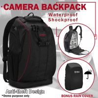 DSLR SLR Camera Backpack Bag Case Waterproof Shockproof for Canon EOS Nikon Sony
