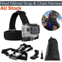 Voilamart Head Helmet Strap Chest Harness Mount GoPro 2 3 3+ 4 Go Pro Chesty Accessoriess