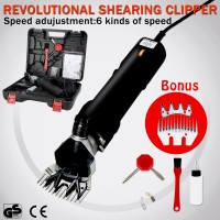Voilamart 500W Electric Farm Sheep Goats Alpaca Clipper Shears Kit Shearing Supplies 6 Speed