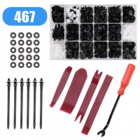 467PCS Car Trim Body Clips Kit Rivet Retainer Door Panel Bumper Plastic Fastener