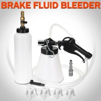 Voilamart Pneumatic Air Brake Bleeder kit Fluid Extractor 4 Adapters Set with Fill Bottle