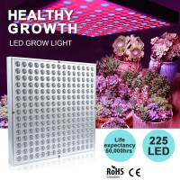 LED 225 Grow Light Hydroponic Full Spectrum Indoor Veg Flower Plant Lamp Panel