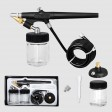 Voilamart Airbrush Compressor Kit Spray Gun Set 22CC Ink Cup Paint 1/6hp 0.8MM Air Brush