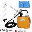 Voilamart Air Brush Mini Compressor Spray Airbrush Gun Kit for Cake Nail Art Make Up Set