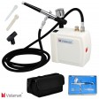 Voilamart Airbrush Compressor Kit 7cc 0.3mm Spray Gun Hose with Carry Bagfor Paint Cake Art
