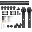 2M Sliding Barn Door Hardware Kit Roller Slide Track Set Interior Closet Home