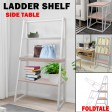 3 Tier Ladder Shelf Display Stand Unit Bookcase Bookshelf Storage Rack Table