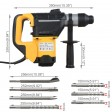 Voilamart Max 1800W 4 in1 Demolition Rotary Jack Hammer Concrete Jackhammer SDS Plus Drill