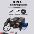 Voilamart 3in1 Rework Soldering Iron Station ESD Safe Hot Air Gun DC Power Supply Tips Kit