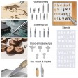 60W Wood Burning Pen Soldering Iron Kit Pyrography Craft Tool Woodburning Tips
