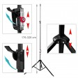 Voilamart 120?Inch Portable Tripod Stand Projector Screen Conference Presentation HD Projection