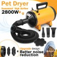 Pet Dog Cat Hair Dryer Grooming Blow Speed Hairdryer Blower Heater Blaster 2800W
