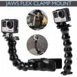 Voilamart Jaws Flex Clamp Mount Clip Accessories Adjustable Neck Gopro Hero 5 4 3+ Go Pro