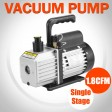 1.8CFM Refrigerant Vacuum Pump 1 Stage Refrigeration Gauges Air Condition 1/4HP