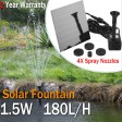 Voilamart Solar Fountain Pump Garden Pool Pond Panel Power Submersible Plants Watering