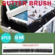 Voilamart 6PCS Outdoor Gutter Brush Guard Gutter Protector Filter Leaf Twigs Black
