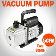 1/2HP 5CFM 2 Stages Refrigeration Vacuum Pump Air Conditioning Gauges Tools