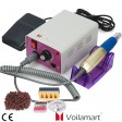 Voilamart Electric Drill Kit 6 Bits Acrylic Tool File Sanding Bands Manicure Nail Toe Art