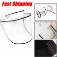 PVC Protective Mask Cap Anti-Fog Saliva Windproof Removable Fishman Hat Brim