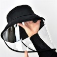 Removable Full Face Protective Cap Windproof Dustproof Anti-Fog Face Shield Hat